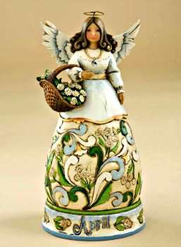 April Birthday Month Angel by Jim Shore Heartwood Creek