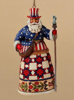 American Santa Hanging Ornament