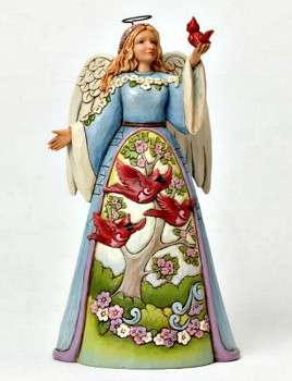 Angel with Cardinal Figurine by Jim Shore Heartwood Creek *SOLD OUT*