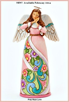 Pray Hope Love Angel with Folded Hands Figurine