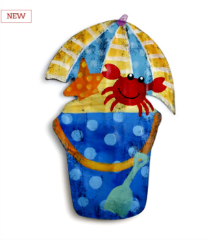 Beach Bucket Door Hanger **NEW - NOW AVAILABLE**