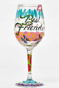 Best Friends Always Wine Glass by LOLITA® **NEW - NOW AVAILABLE**