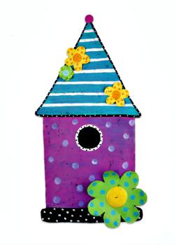 Birdhouse Door Hanger