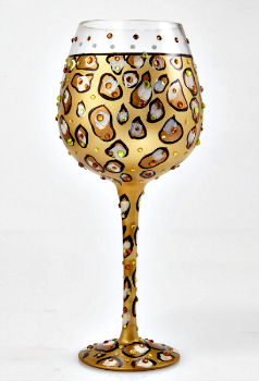 Bling Leopard Wine Glass **SOLD OUT**