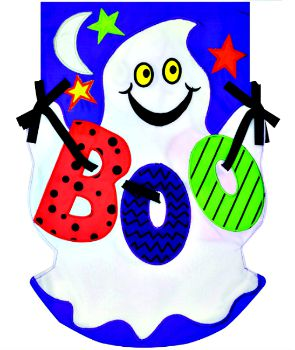 Boo Ghost Applique Mini Garden Flag **NEW**