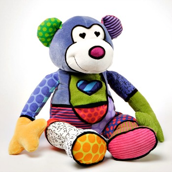 Britto Plush Stuffed Canvas Monkey