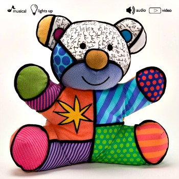 Britto Plush Canvas Musical Christmas Bear