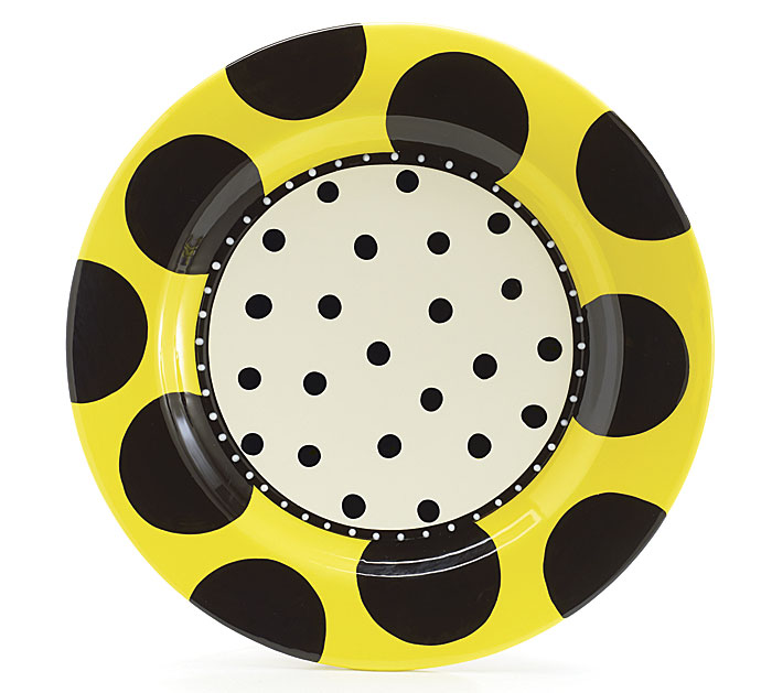 14 1/2\ Diameter Bee Pattern Platter