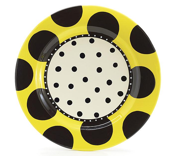 14 1/2\ Diameter Bee Pattern Platter