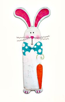 Bunny with Carrot Door Hanger