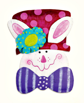 Bunny in Hat Door hanger