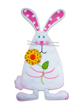 Bunny with Flower Door Hanger **COMING SOON**