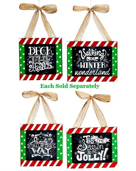 Chalkboard Message Ornaments **NEW**