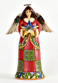 Heavenly First Noel-Christmas Angel with Nativity Star Figurine
