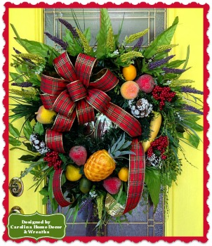 Christmas Wreath #4 Williamsburg Welcome **SOLD**
