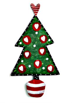 Christmas Tree with Hearts Door Hanger **NEW - SOLD OUT**