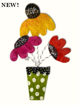 Cone Flowers in Pot Door Hanger ***COMING SOON!***