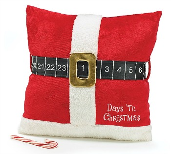 Santa Belt Countdown Pillow **SOLD OUT**