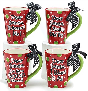 Dear Santa Message Mugs
