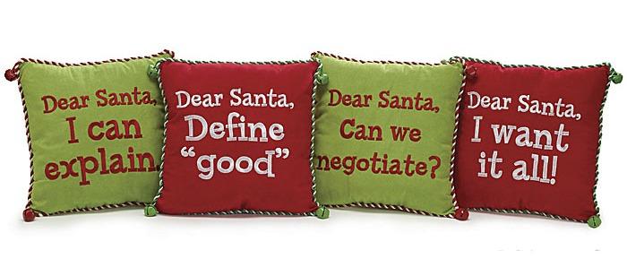 dear santa christmas pillows - Christmas Pillows