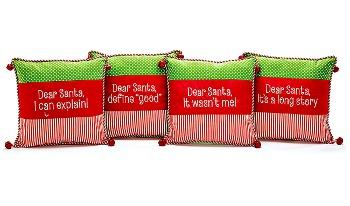 Dear Santa Message Pillow