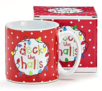 Deck the Halls Christmas Mug by Burton & Burton
