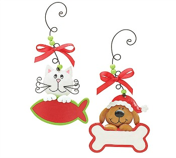 Dog or Cat Christmas Ornament