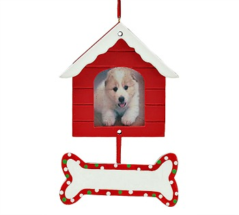 Doghouse Frame & Bone Ornament