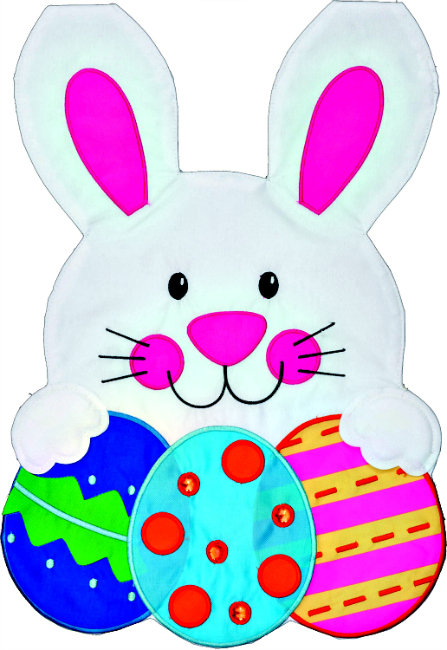 Easter Bunny Applique Mini Garden Flag By Custom Decor Inc