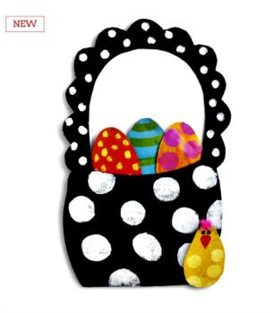 Easter Egg Basket Door Hanger