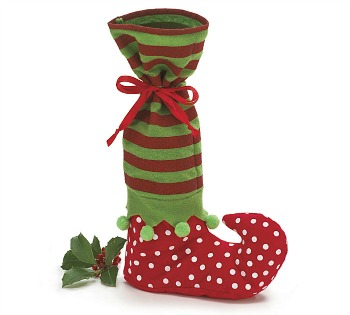Elf Boot Wine Bottle Bag