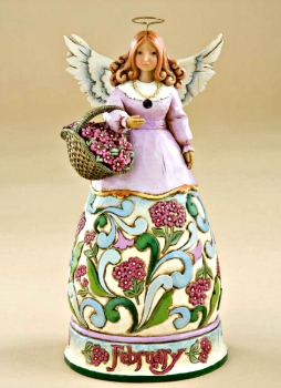 February Birthday Angel by Jim Shore Heartwood Creek