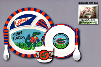 Florida Gators Tailgatin' for Tots Dinnerware Set **NEW**