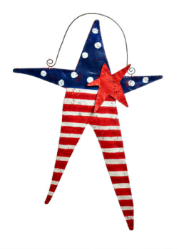 Fourth of July Star Door Hanger