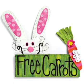 Free Carrots Door Hanger