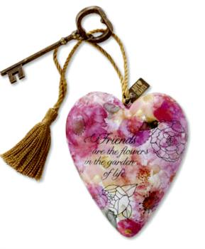 Friends are Flowers Art Heart