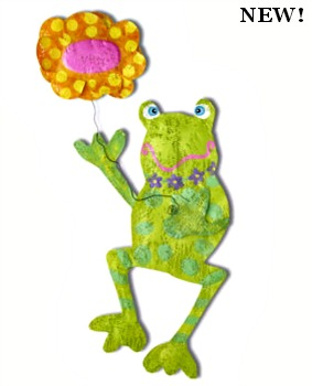 Frog with Flower Door Hanger ***COMING SOON***