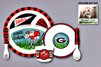 Georgia Bulldogs Tailgatin' for Tots Dinnerware Set **NEW**