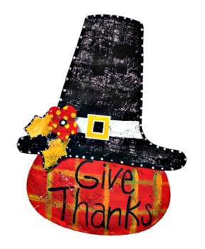 Give Thanks Pumpkin Door Hanger