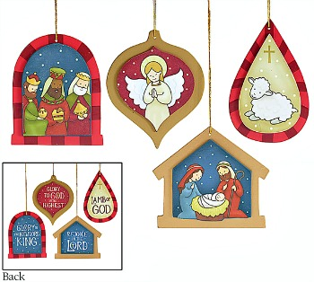 Glorious Day Wooden Christmas Ornaments