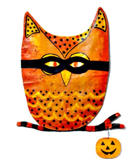 Halloween Owl Door Hanger from Silvestri Screenings by  ~ 102409_Halloween Owl Door Hanger