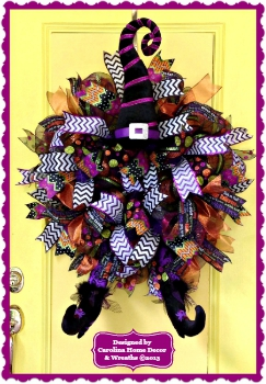 Halloween Witch Wreath #6 **SOLD**