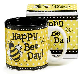 Happy Bee Day Ceramic Mug