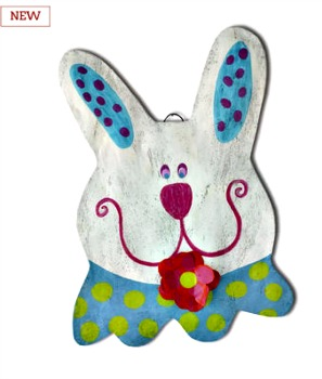 Happy Bunny Door Hanger **NEW**