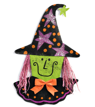 Happy Witch Door Hanger **NEW - SOLD OUT**