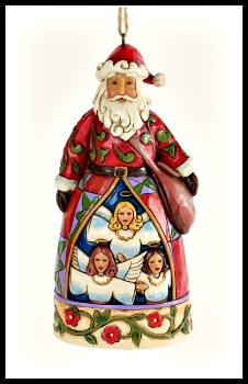 Hark the Herald Santa Ornament