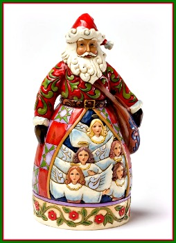 Hark! The Herald Angels Sing Santa Figurine
