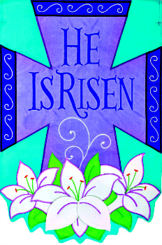 He is Risen Applique Mini Garden Flag **NEW**