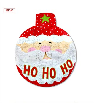 Ho Ho Ho Santa Head Door Hanger **NEW**NOW AVAILABLE