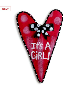 Baby Girl Heart Door Hanger **NEW - NOW AVAILABLE**